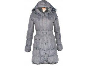 Dámský šusťákový šedý kabát s kapucí ORSAY 36