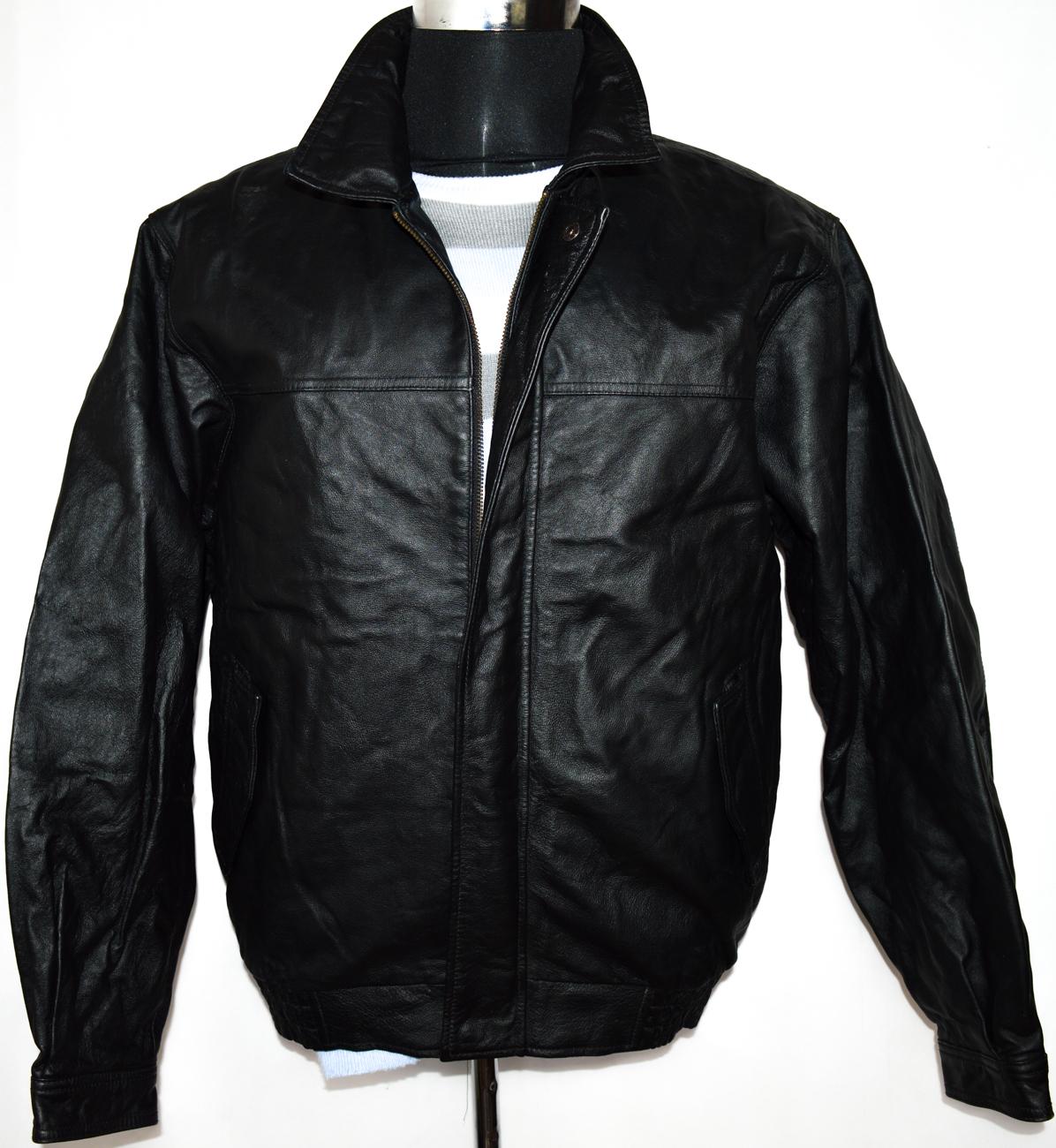 KOŽENÁ pánská černá bunda na zip EASY vel. L