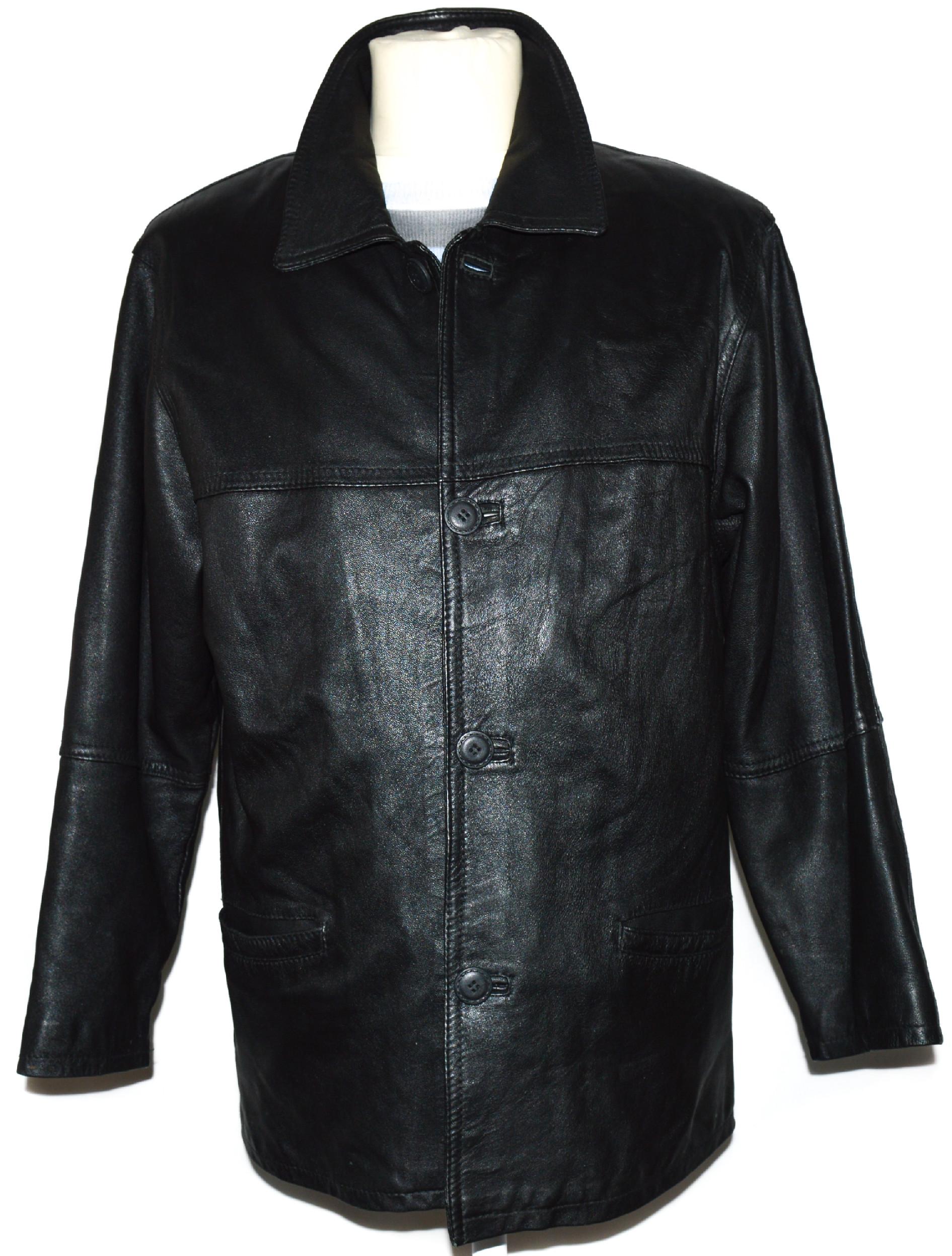 KOŽENÁ pánská černá měkká bunda s vložkou M