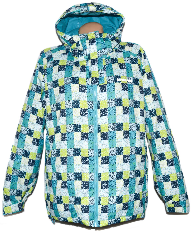 Dámská lyžařská modrá kostkovaná bunda ALPINE PRO L/XL