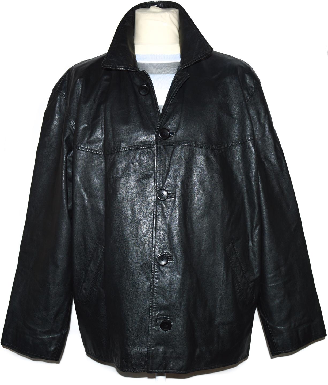 KOŽENÁ pánská černá bunda 56