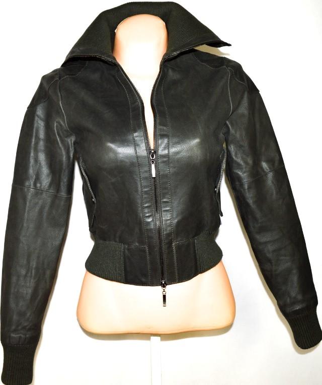 KOŽENÁ dámská bunda na zip XS