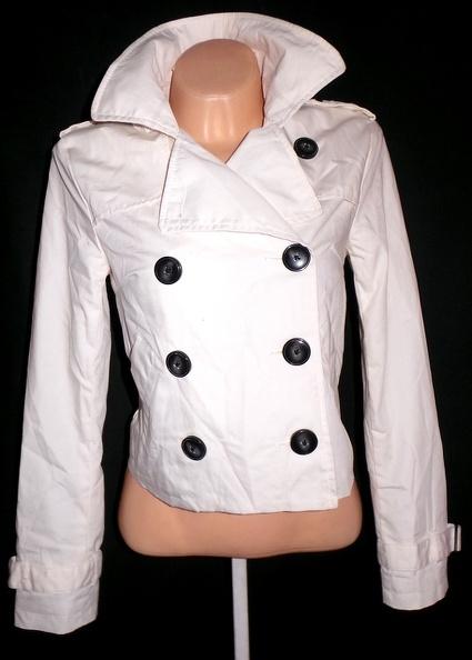 Bavlněný dámský smetanový kabátek H&M L