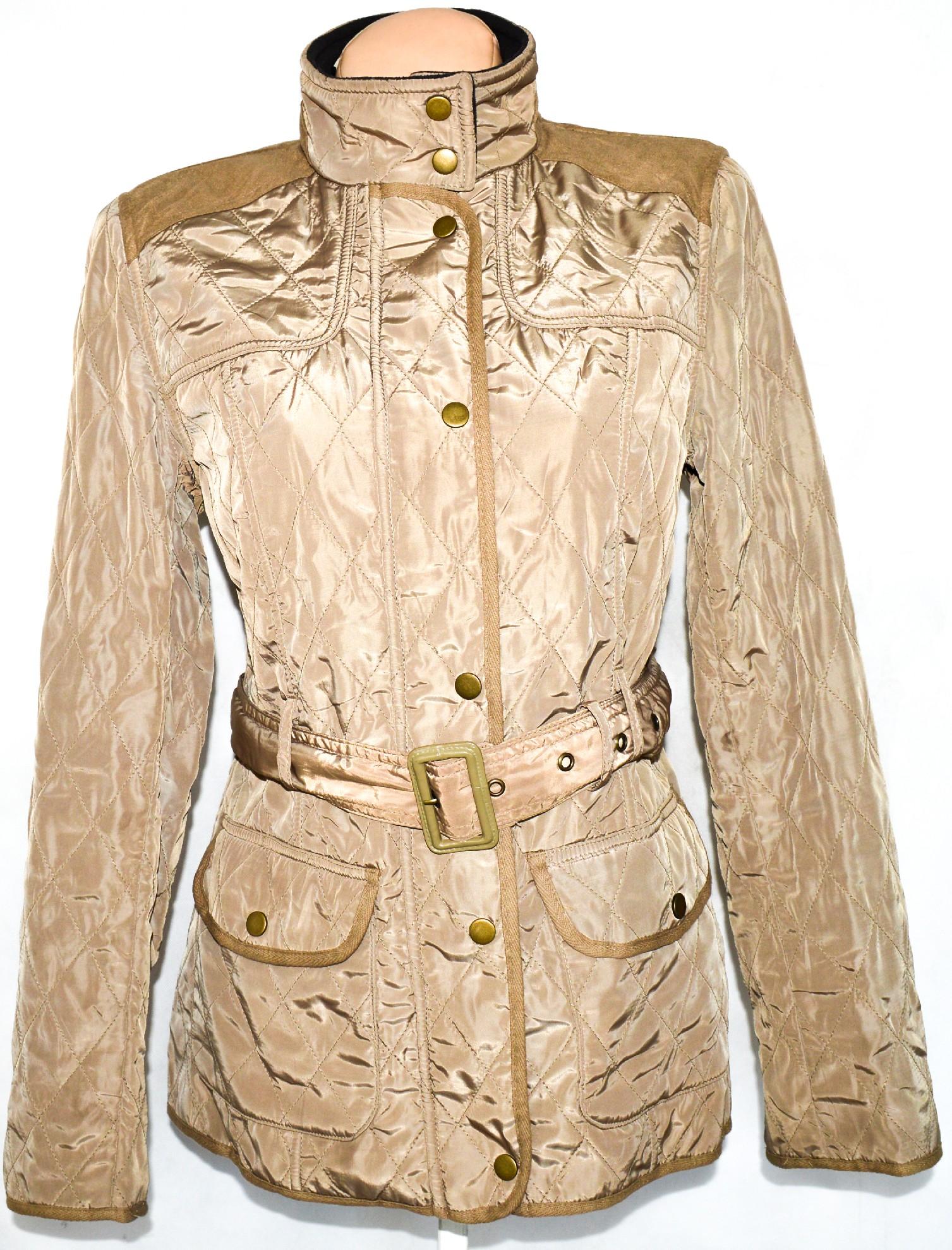 Dámský hnědý prošívaný kabát na zip 9462d1dc44