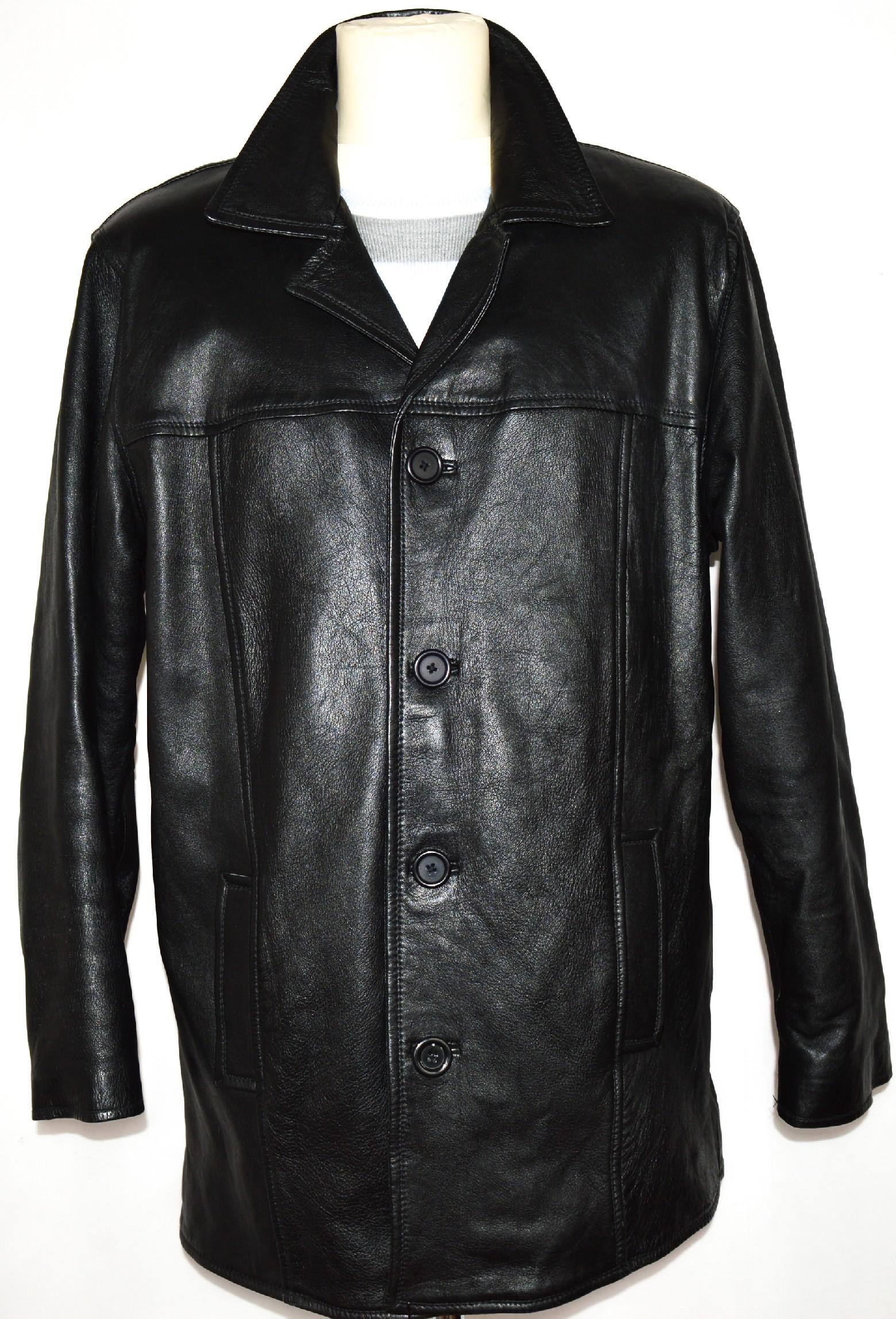 KOŽENÁ pánská měkká černá bunda MDK vel. L