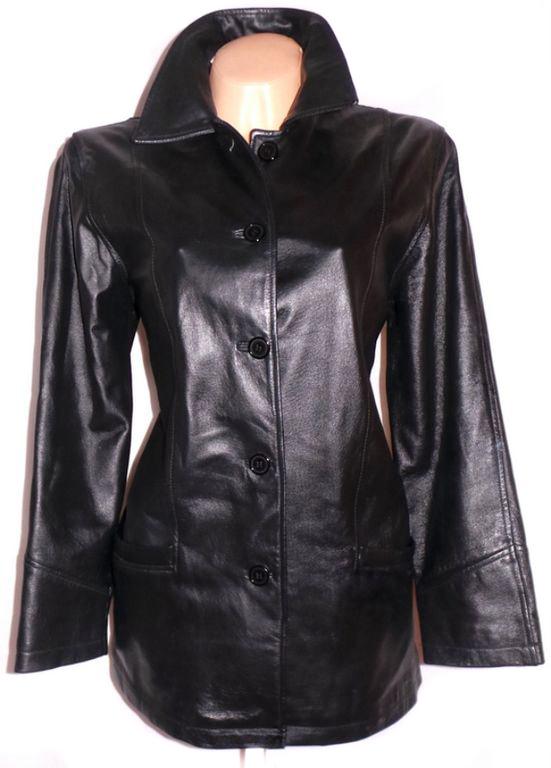 KOŽENÁ dámská černá měkká bunda Milan Leather XL, XXXL