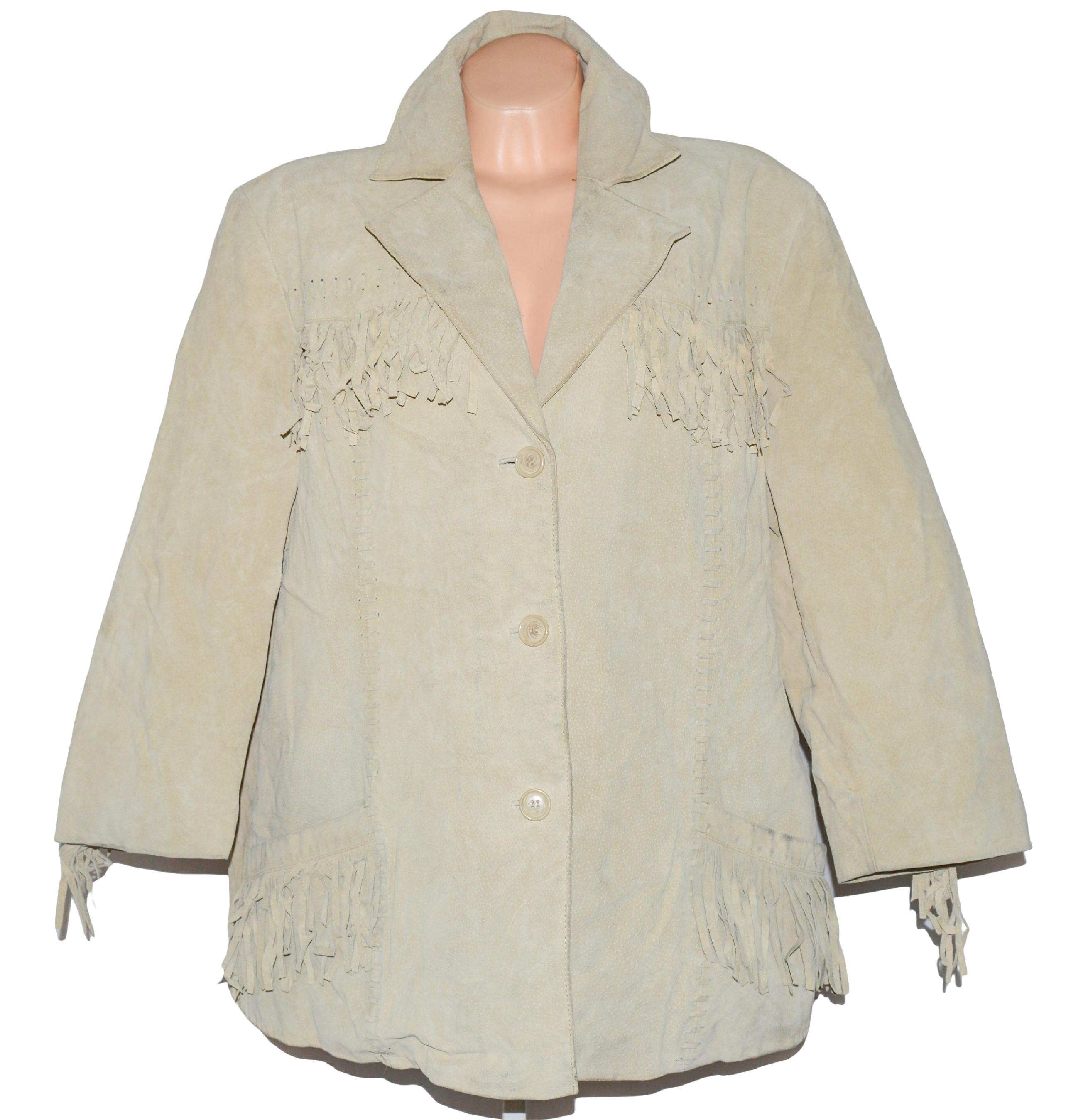 KOŽENÁ dámská béžová broušená bunda XXXL