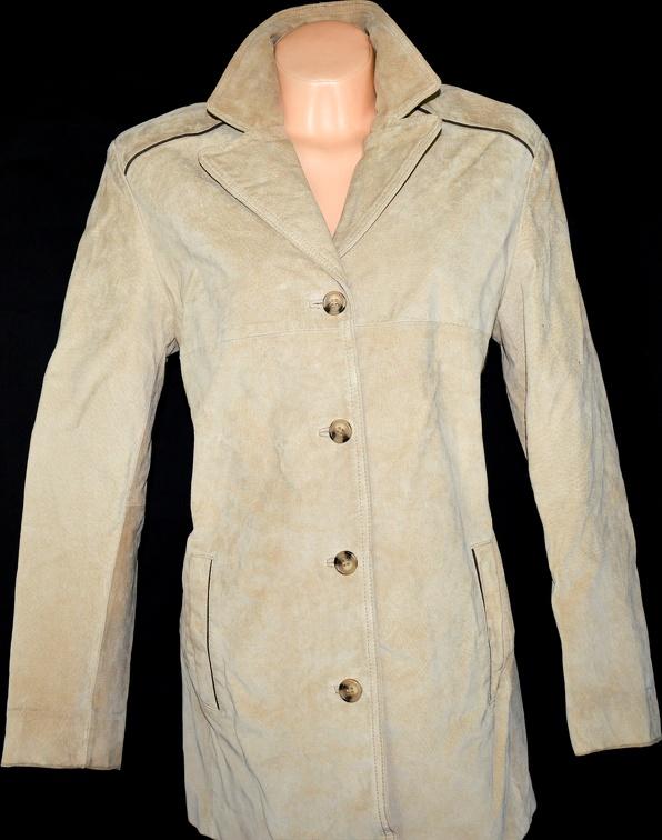 KOŽENÝ dámský béžový kabát FIORELLI XL