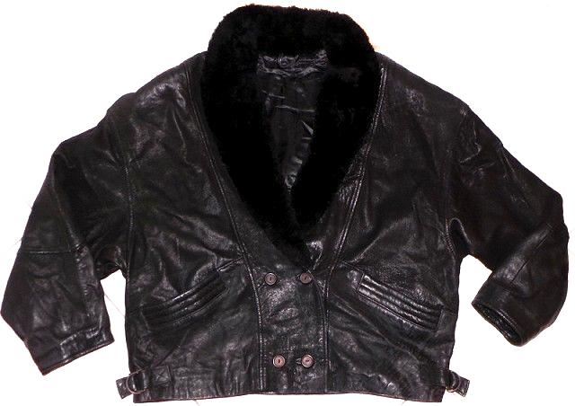 KOŽENÁ dámská černá měkká bunda s kožíškem XXXL