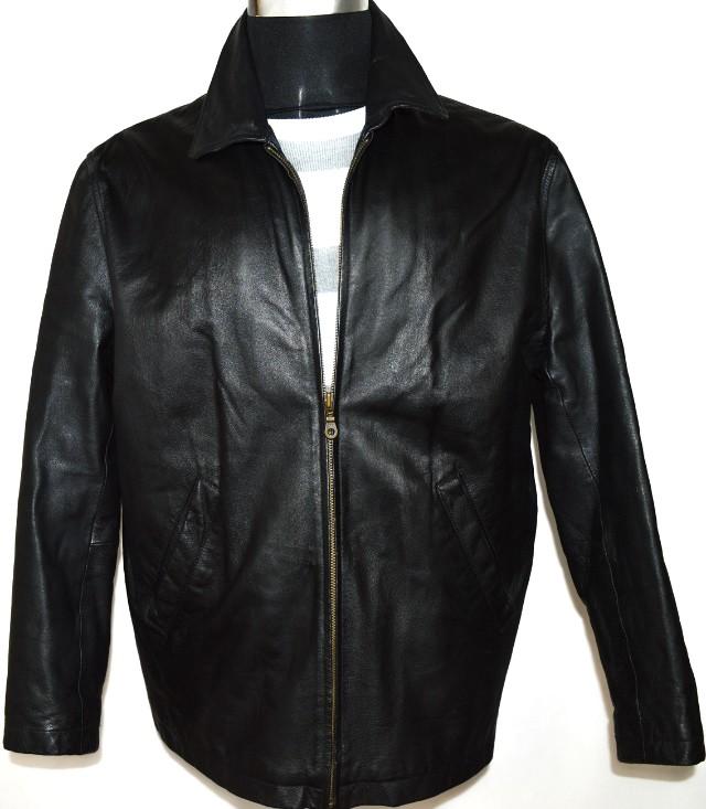 KOŽENÁ pánská černá měkká bunda na zip BURTON M