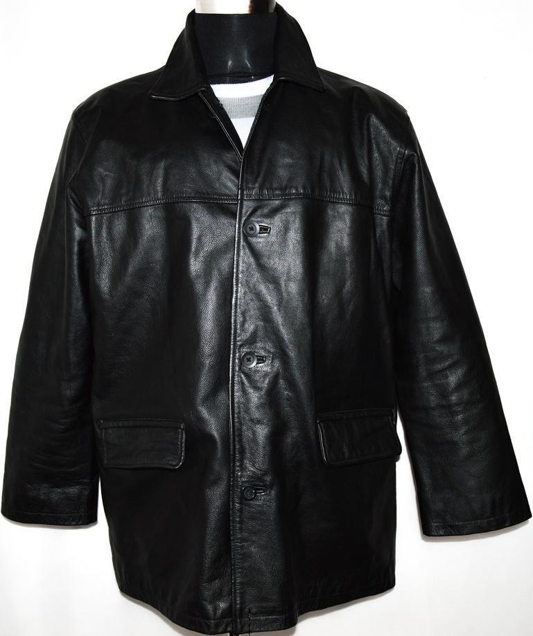 KOŽENÁ pánská černá bunda BLUEINC vel. XL