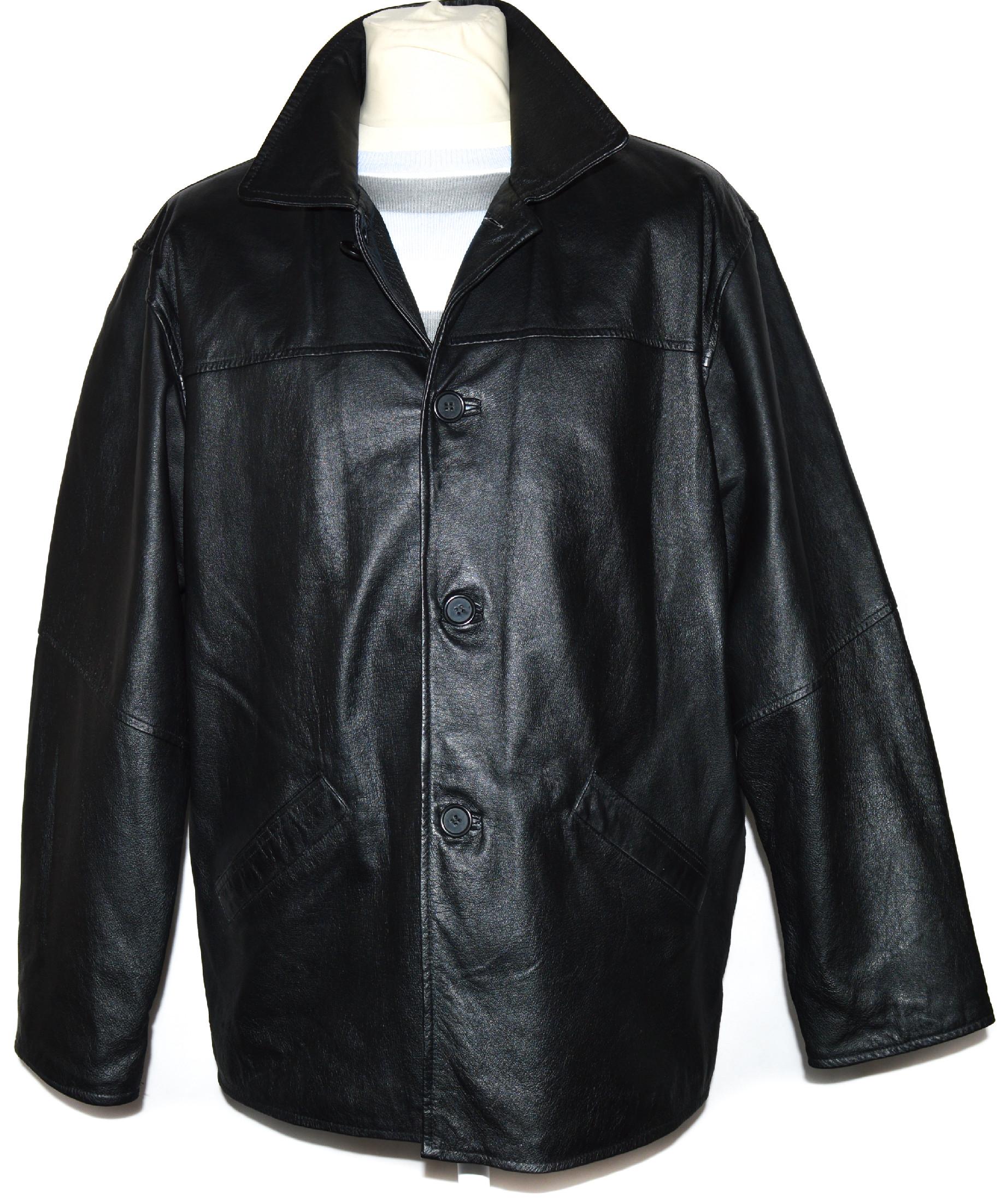 KOŽENÁ pánská černá bunda Roy/Rene XL