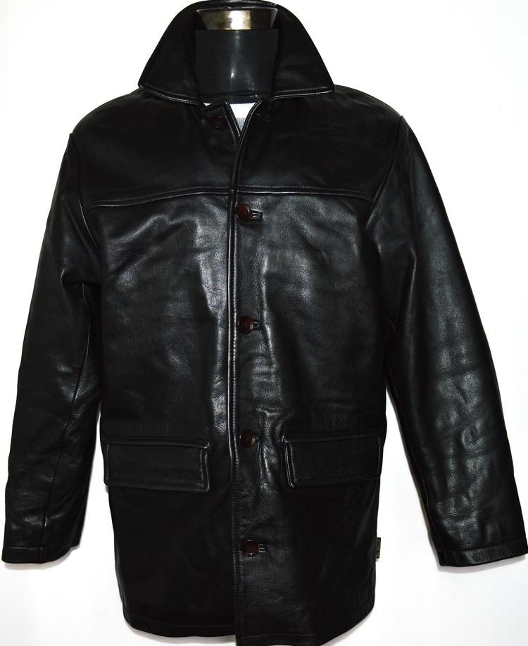 KOŽENÁ pánská černá bunda BEN SHERMAN L