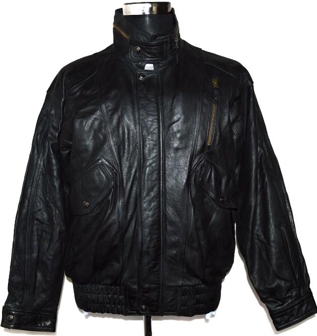 KOŽENÁ pánská měkká černá bunda na zip JARGON M