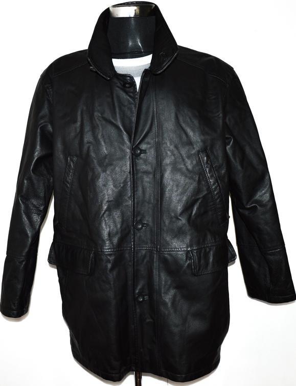 KOŽENÁ pánská černá bunda se stojáčkem vel. L