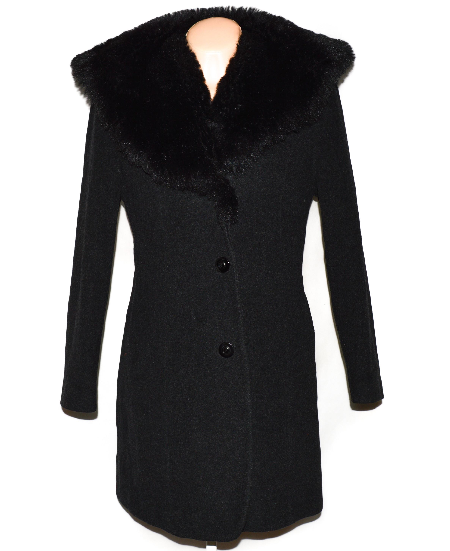 Vlněný (70%) dámský šedočerný kabát Bellandi (vlna, kašmír) 40