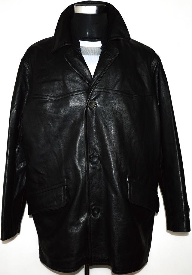 KOŽENÁ pánská černá měkká bunda s teplou vložkou XL