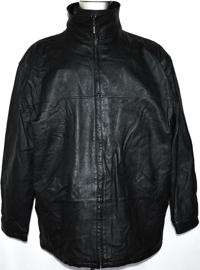 KOŽENÁ pánská černá bunda na zip TCM XL