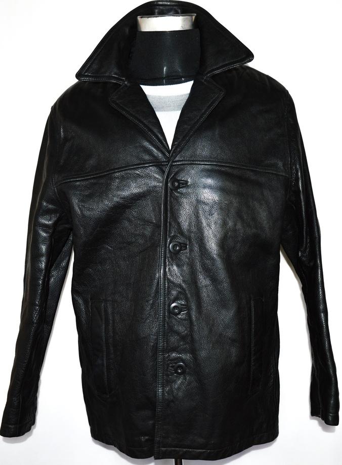 KOŽENÁ pánská černá bunda s teplou vložkou Wilsons Leather L