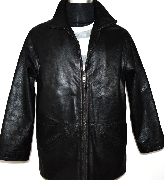 KOŽENÁ pánská černá zateplená bunda Jackey McGee L