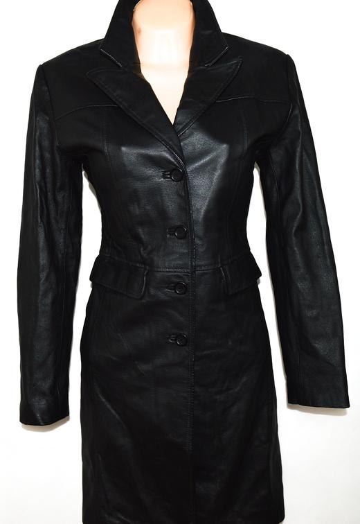 KOŽENÝ dámský černý kabát FREEMANS L
