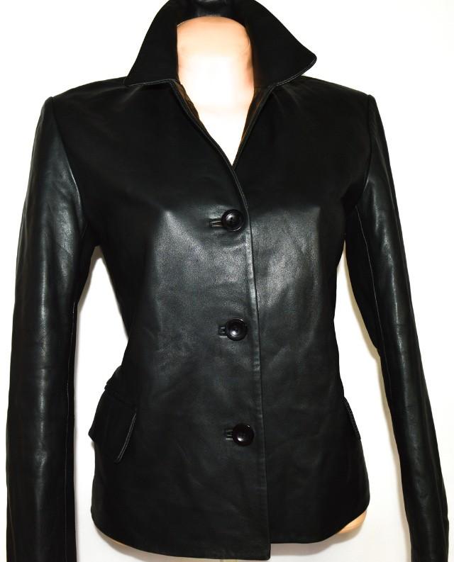 KOŽENÝ dámský měkký černý kabátek SARDAR L