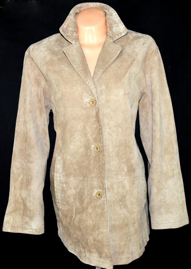 KOŽENÝ dámský béžový kabát XXL