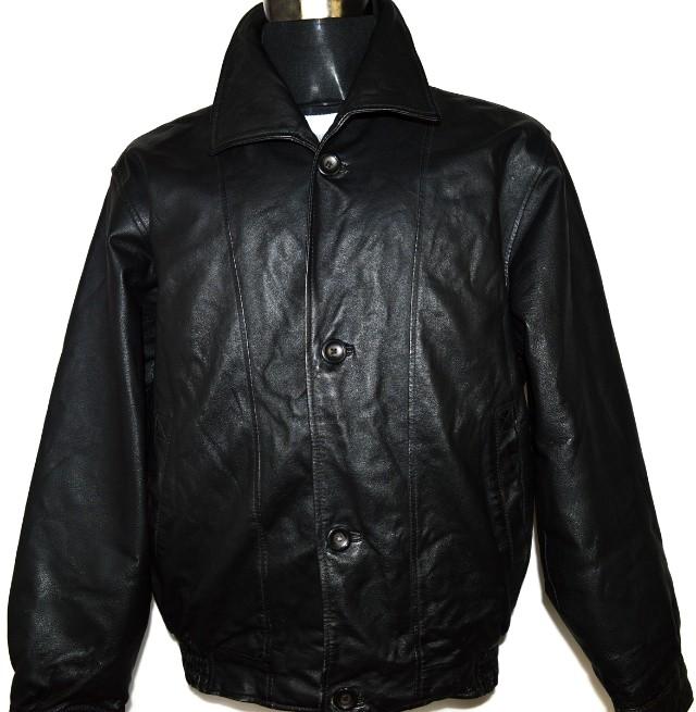 KOŽENÁ pánská černá zateplená bunda vel. XL