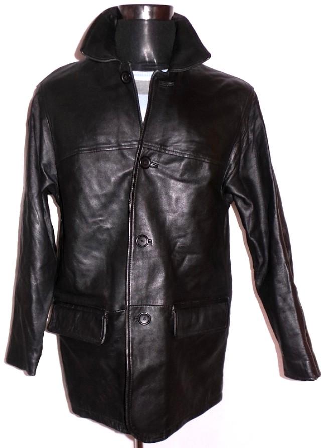 KOŽENÁ pánská černá bunda C&A vel. M