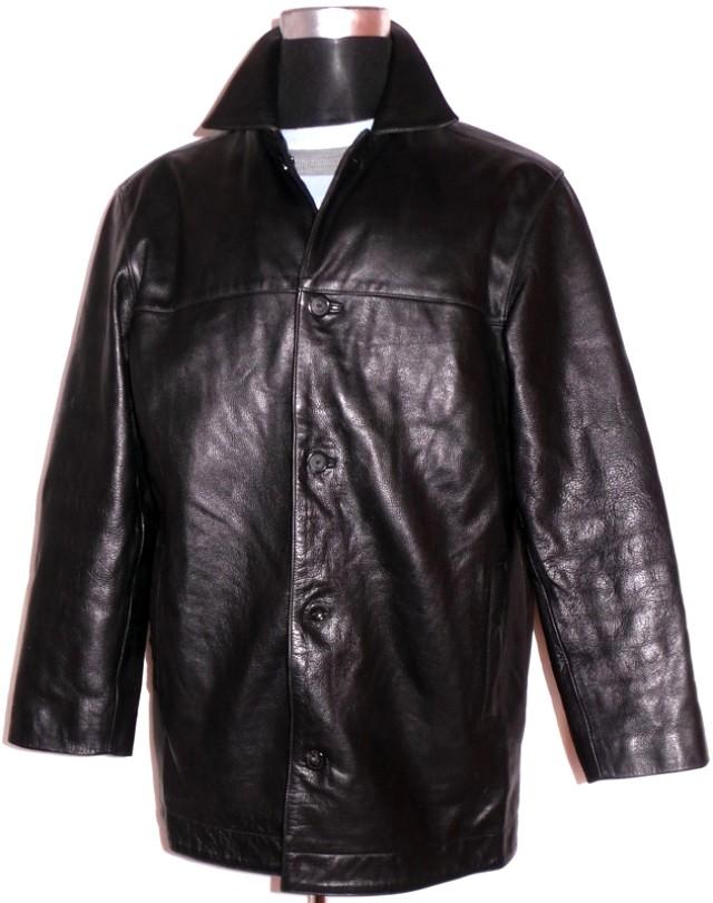 KOŽENÁ pánská černá bunda THOMAS NASH XL
