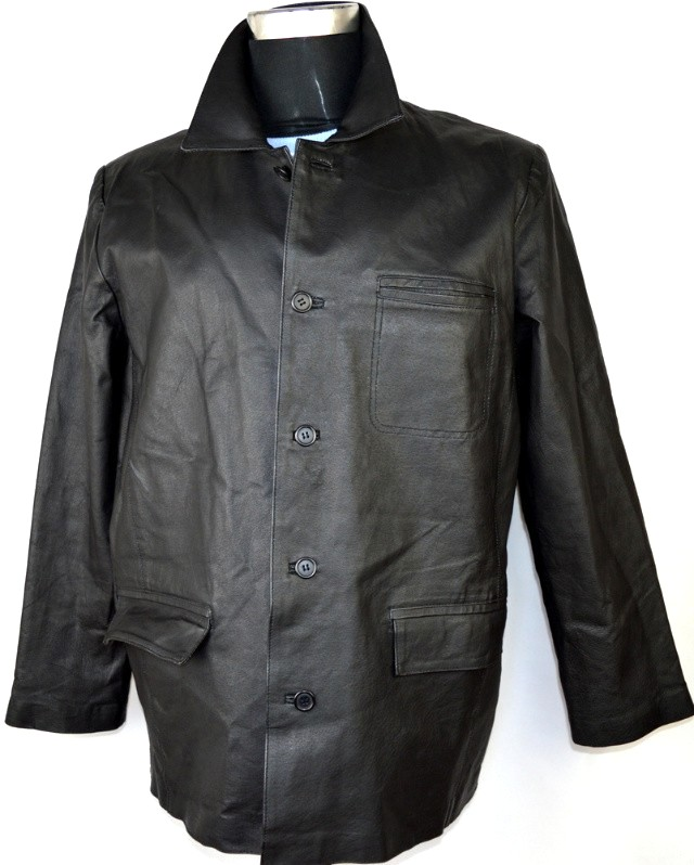 KOŽENÁ pánská černá bunda vel. L