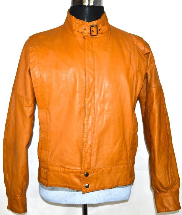 KOŽENÁ pánská hnědá zateplená bunda vel. M