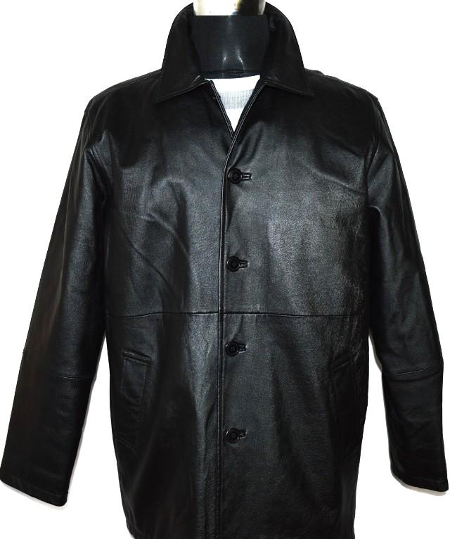 KOŽENÁ pánská černá bunda FOR MEN XL