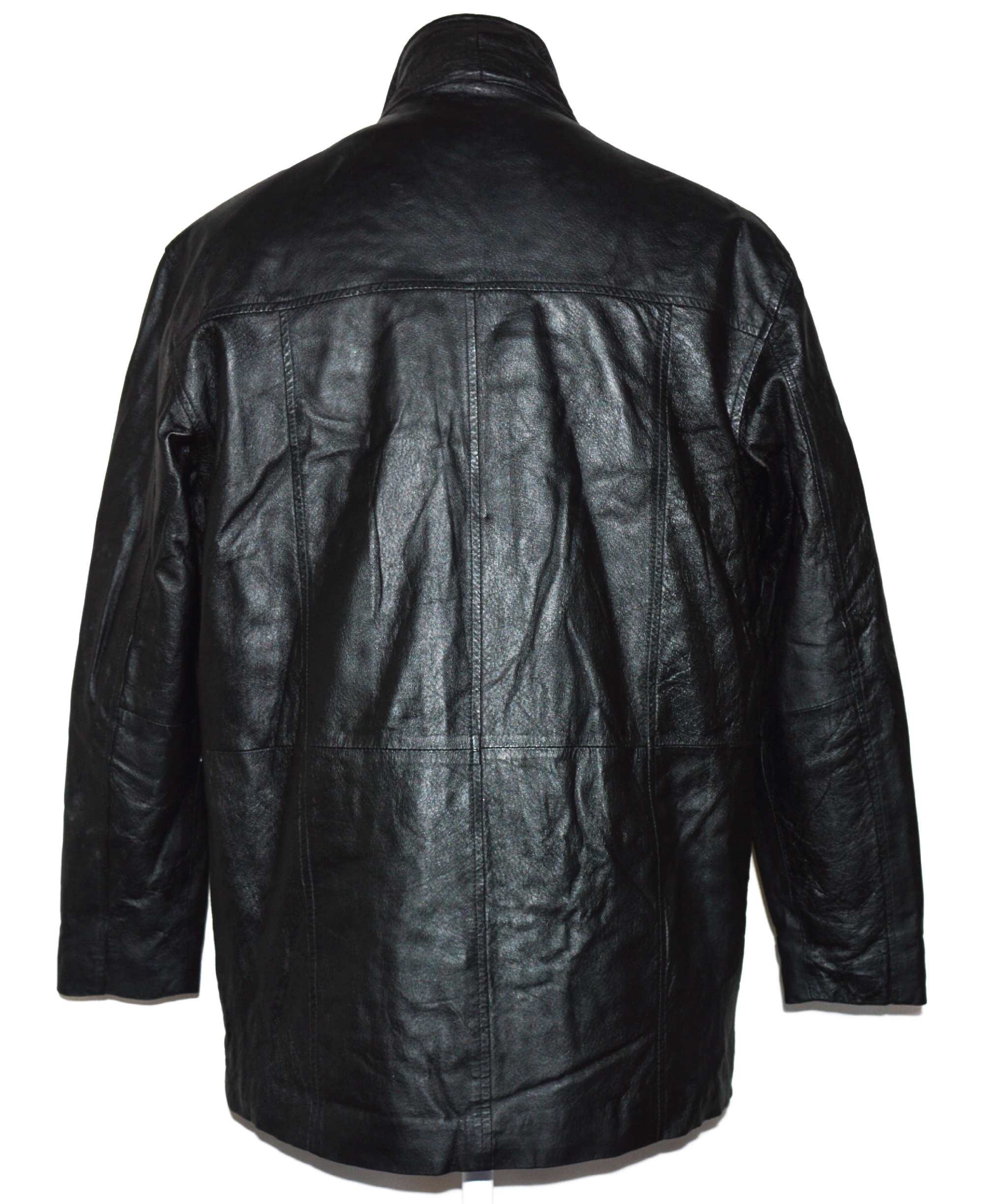 KOŽENÁ pánská černá bunda DETAIL L,XL