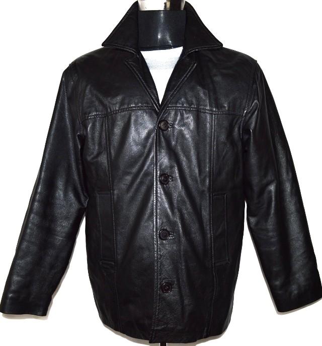 KOŽENÁ pánská měkká černá bunda Heeli London M