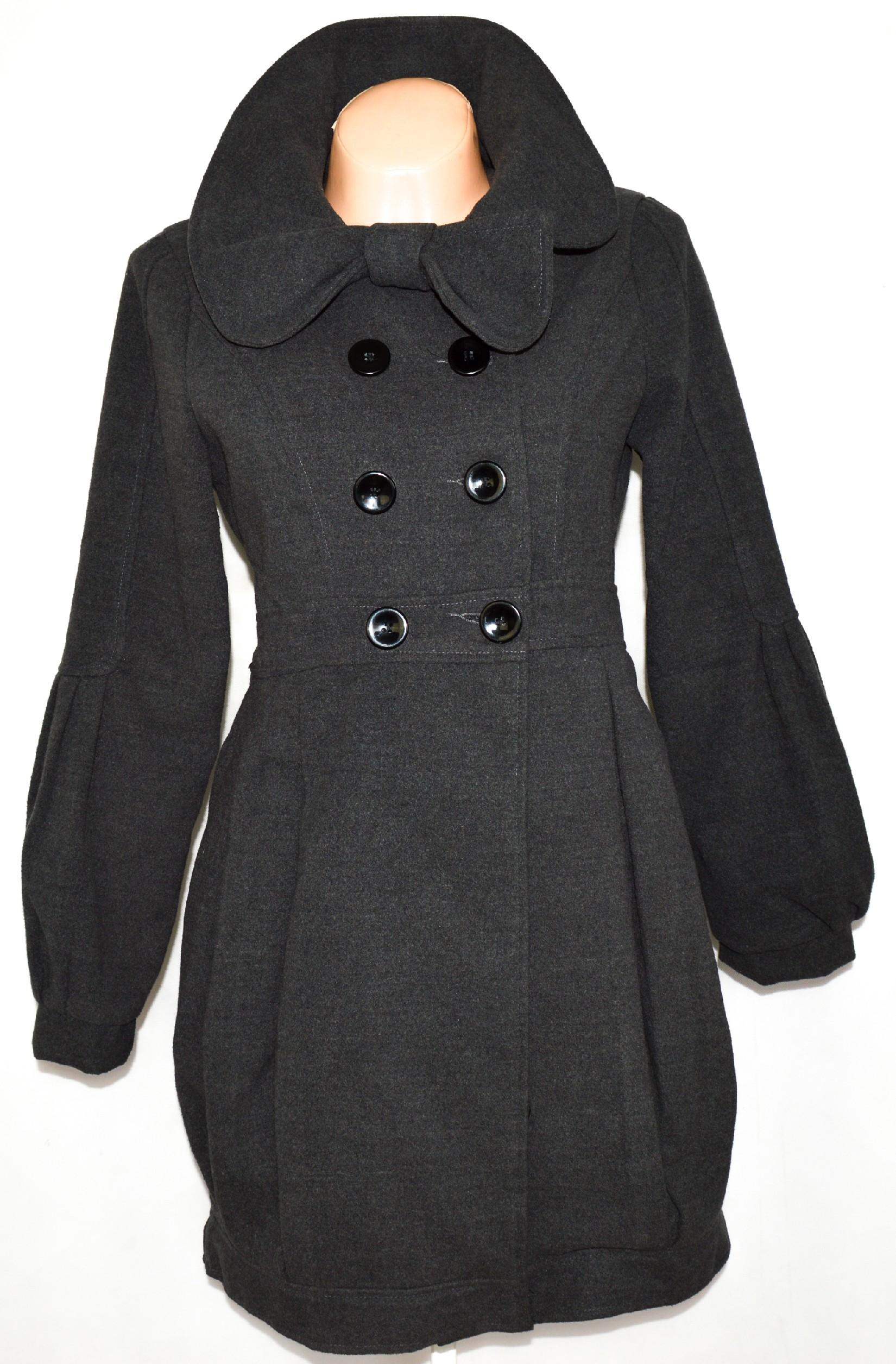 Dámský šedý kabát YUMI vel. M