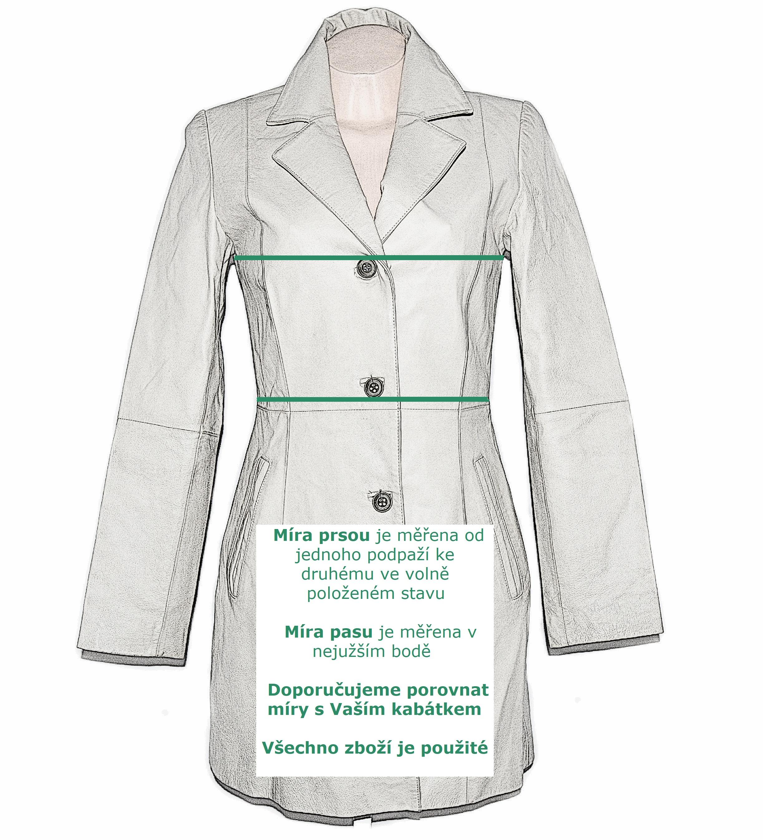 Dámský dlouhý měkký černý kožený kabát UK 12  L b2d46f7bbd3