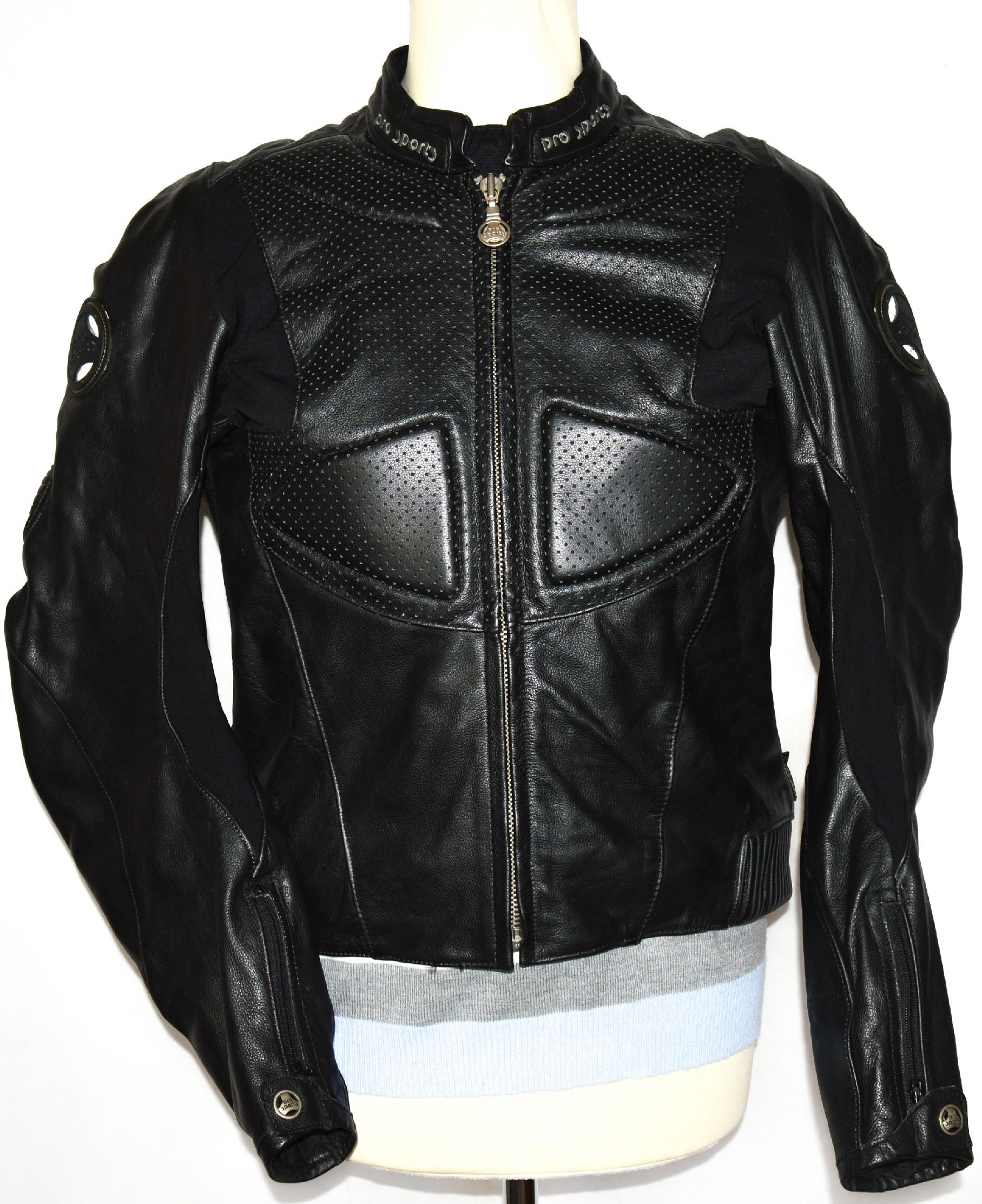 KOŽENÁ pánská černá motorkářská bunda PRO SPORTS