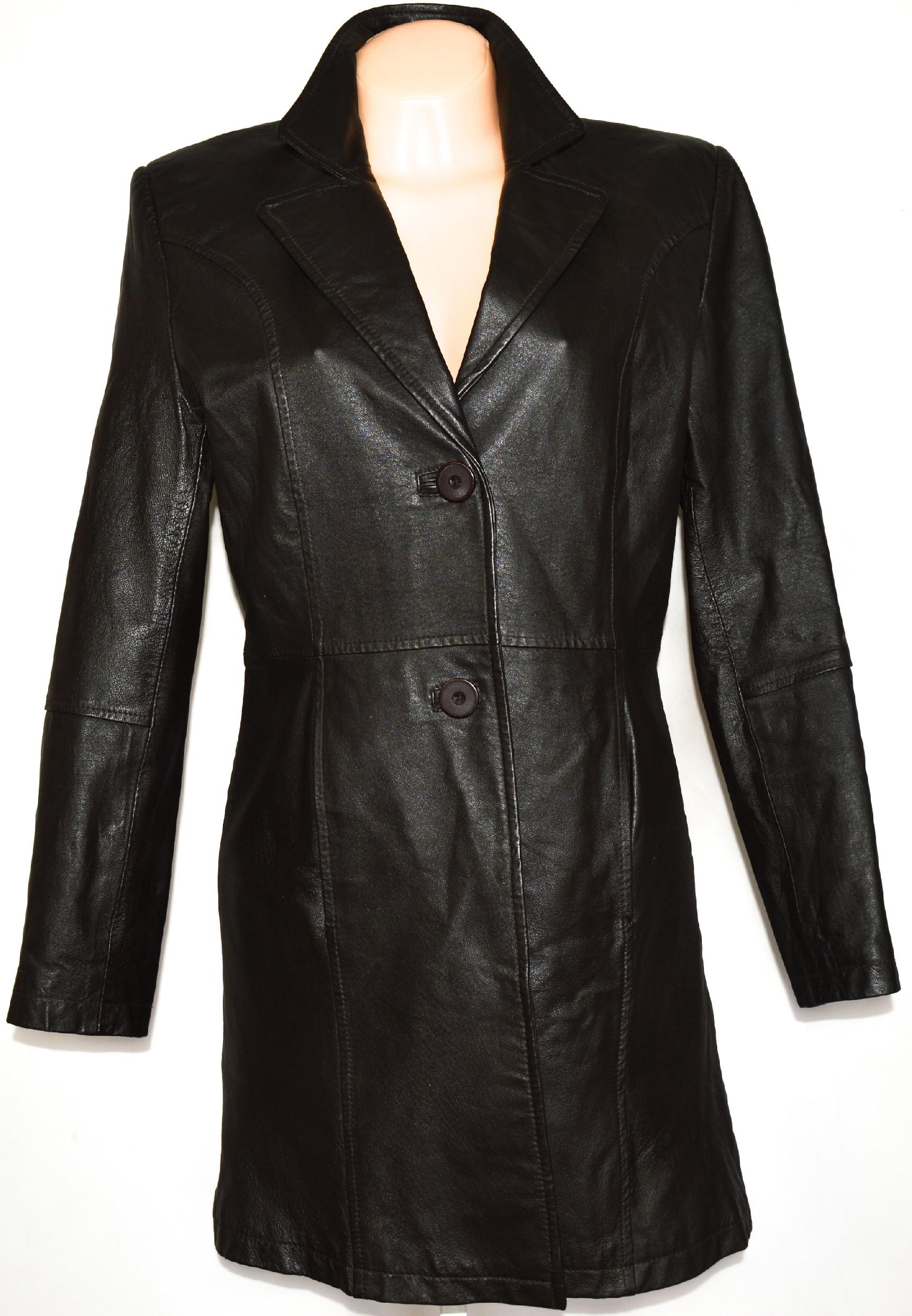 KOŽENÝ dámský hnědý kabát CERO XXL