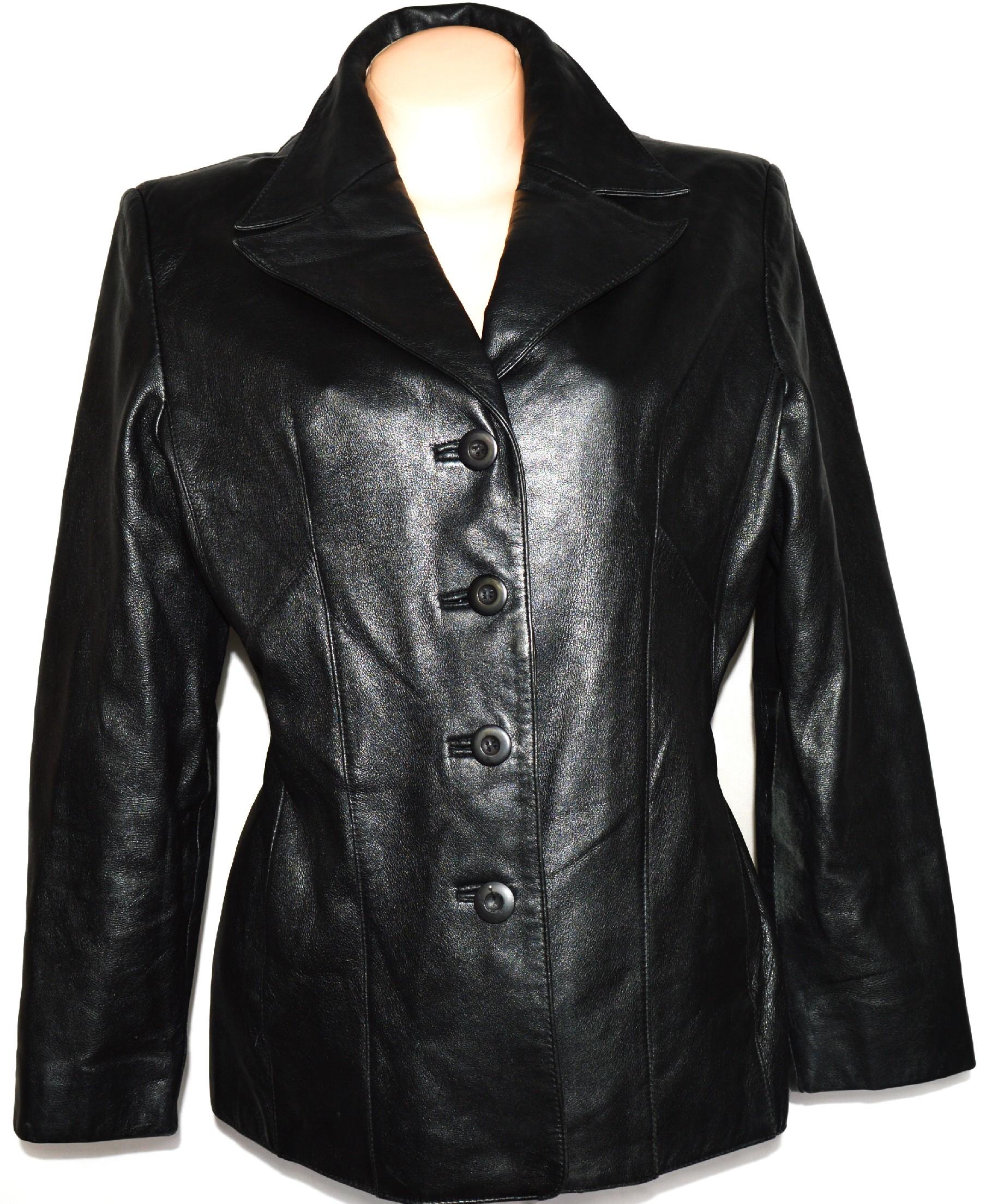 KOŽENÝ dámský měkký černý kabátek WILSONS LEATHER L