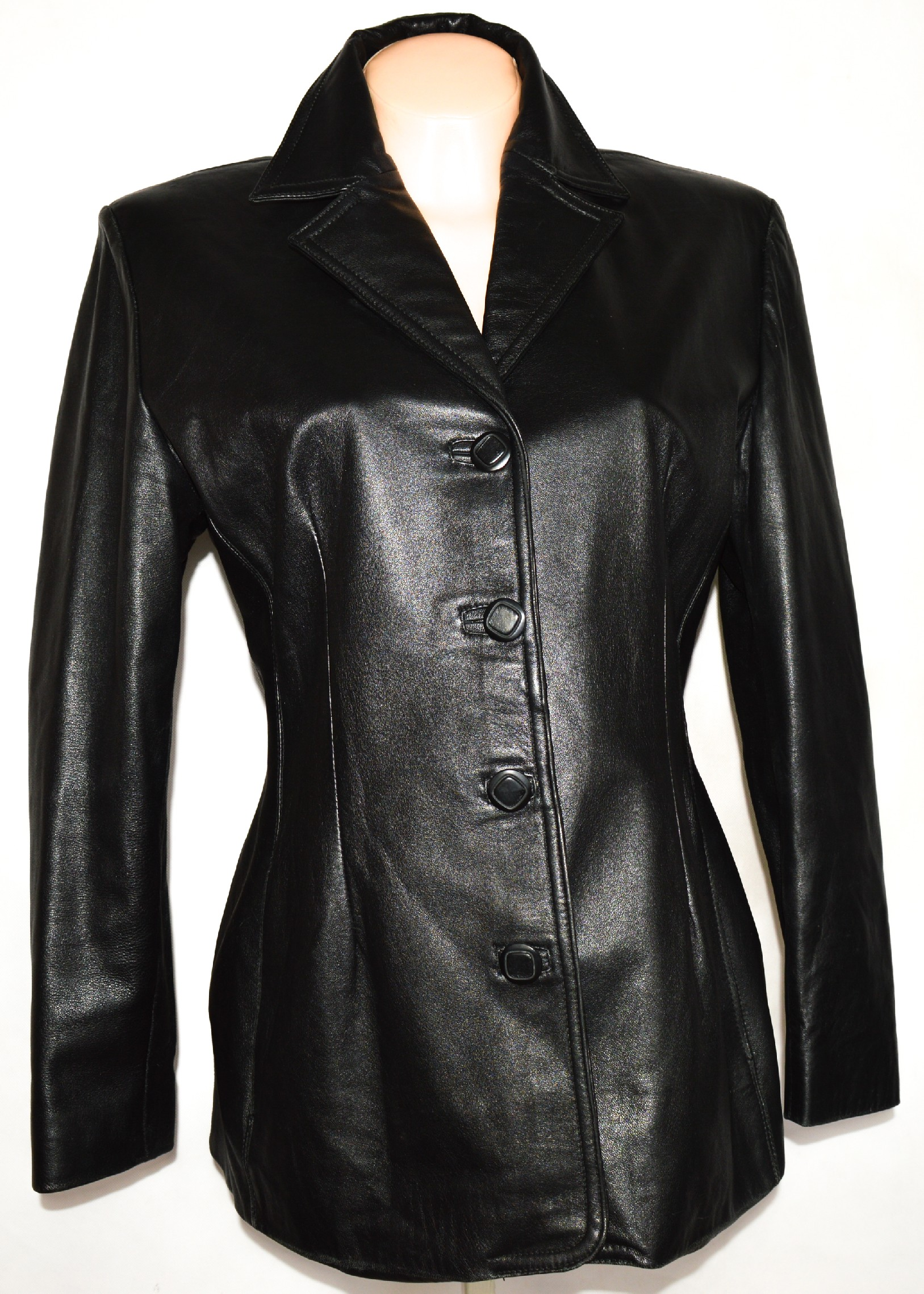 KOŽENÝ dámský měkký černý kabátek VERA PELLE L