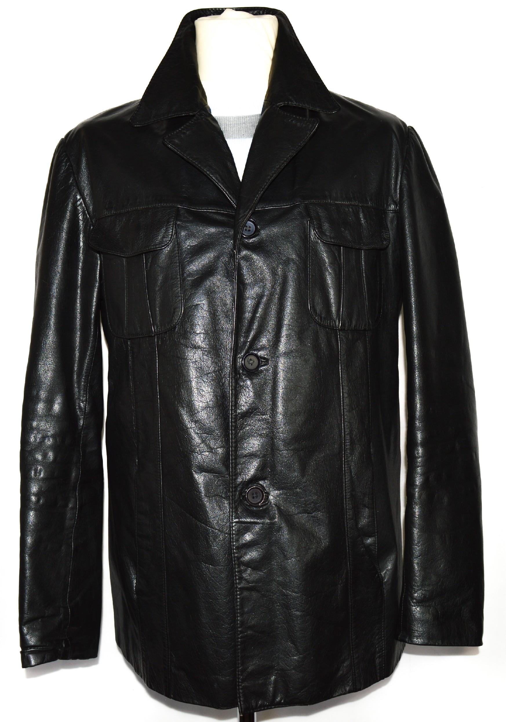 KOŽENÁ pánská černá bunda M