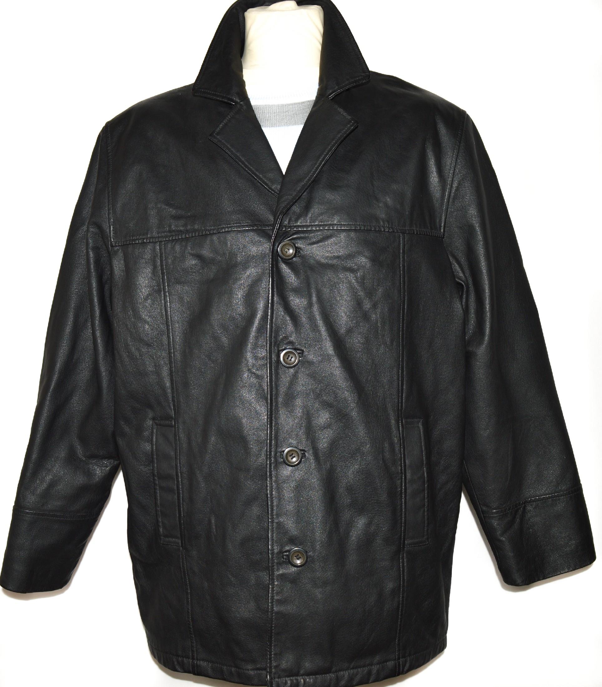 KOŽENÁ pánská měkká černá bunda AVANTI XL