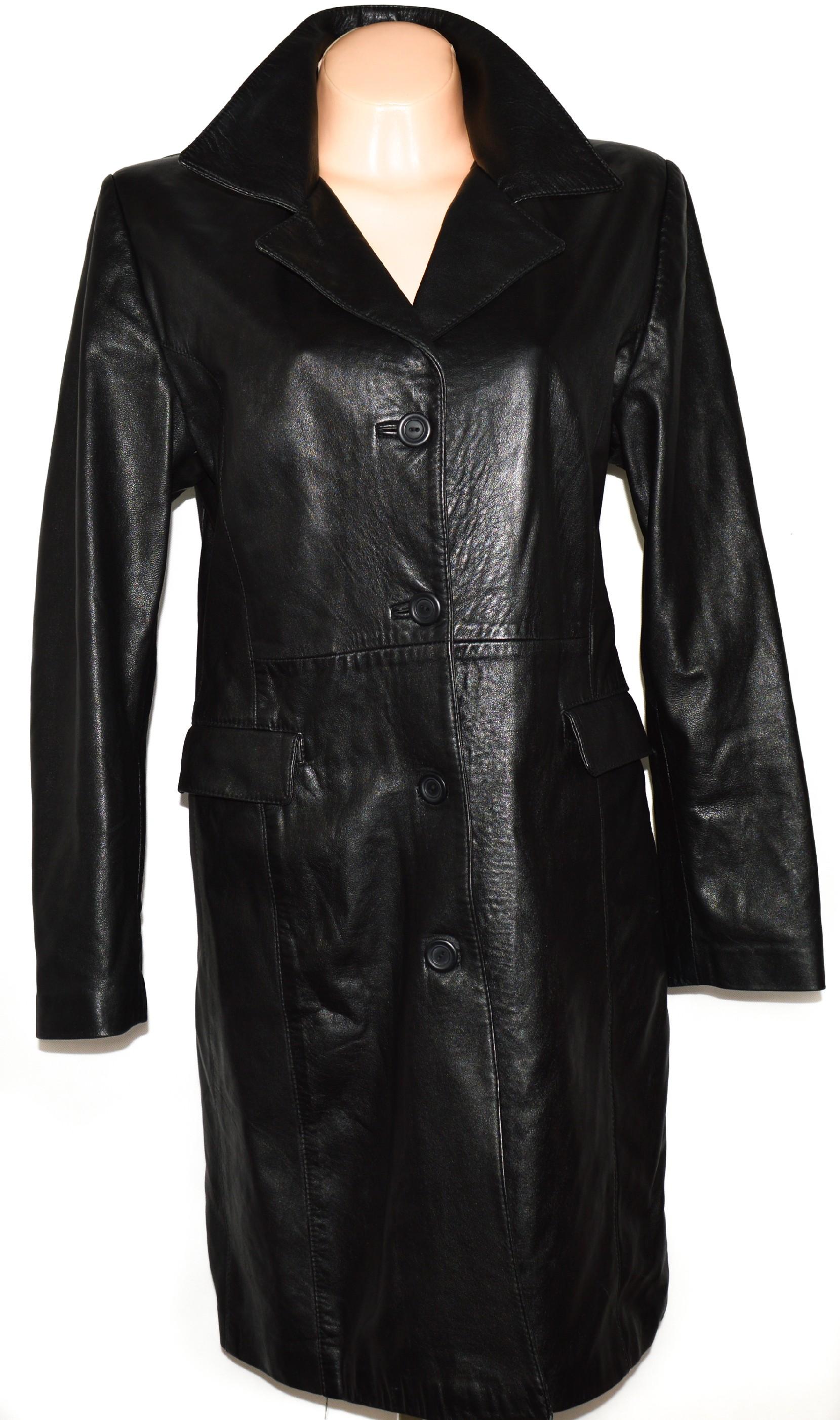 16e596f9dfbb KOŽENÝ dámský měkký černý kabát FIRENZE L