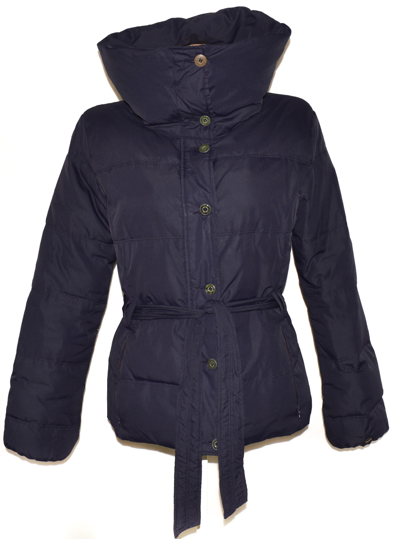 Péřový dámský fialový kabát na zip TIMEOUT XL