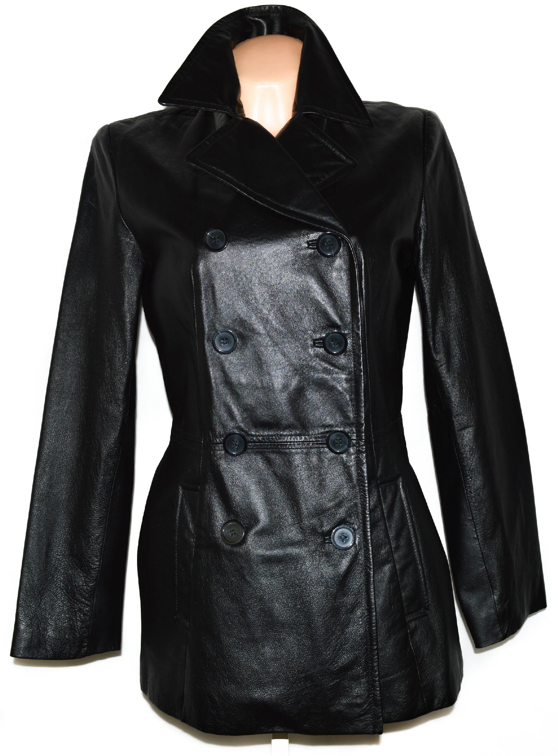 KOŽENÝ dámský černý měkký kabát SONOMA M