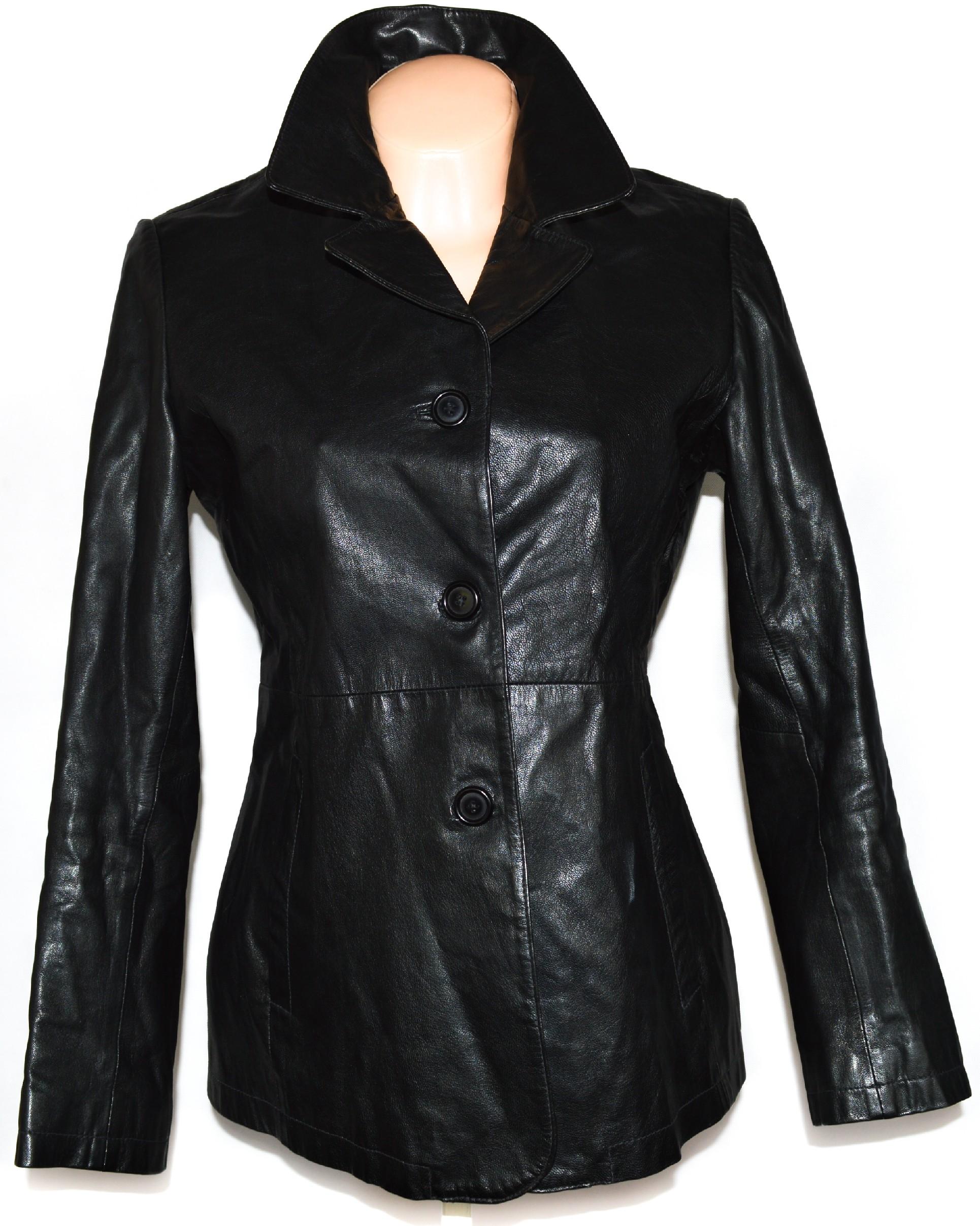 KOŽENÝ dámský černý kabát Concerto L