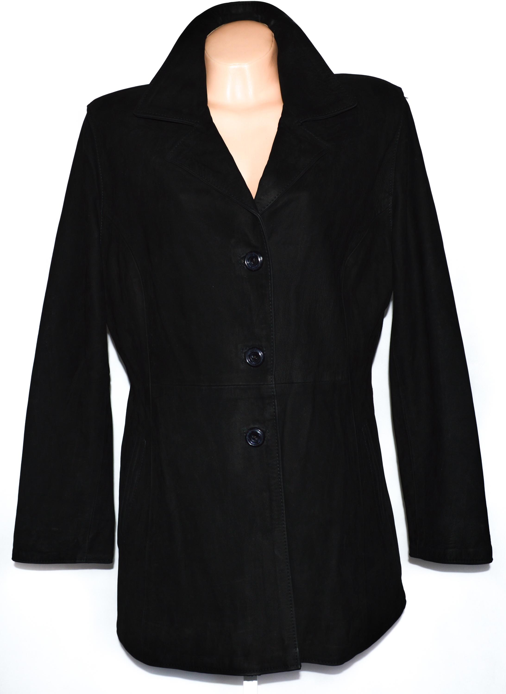 KOŽENÝ dámský černý kabát Vera Pelle XL