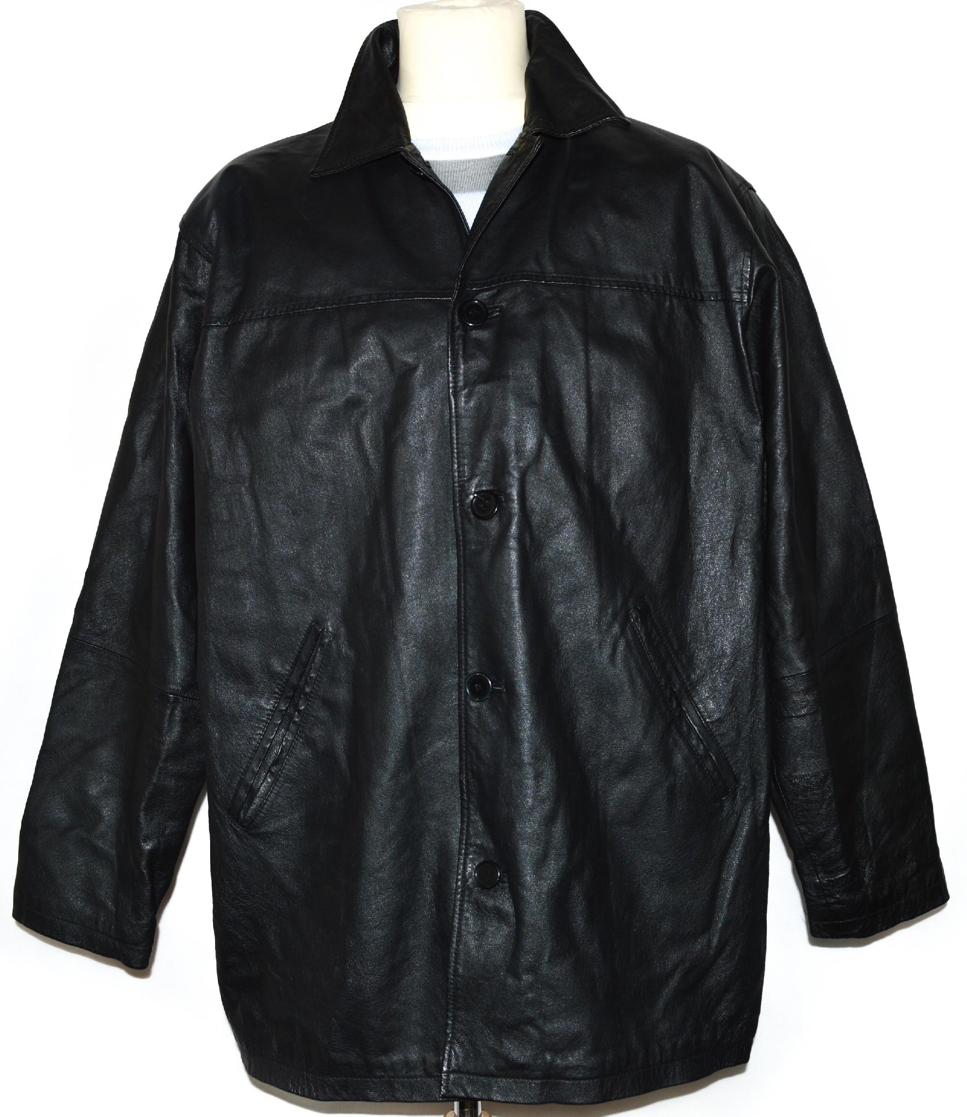 KOŽENÁ pánská černá měkká bunda XL