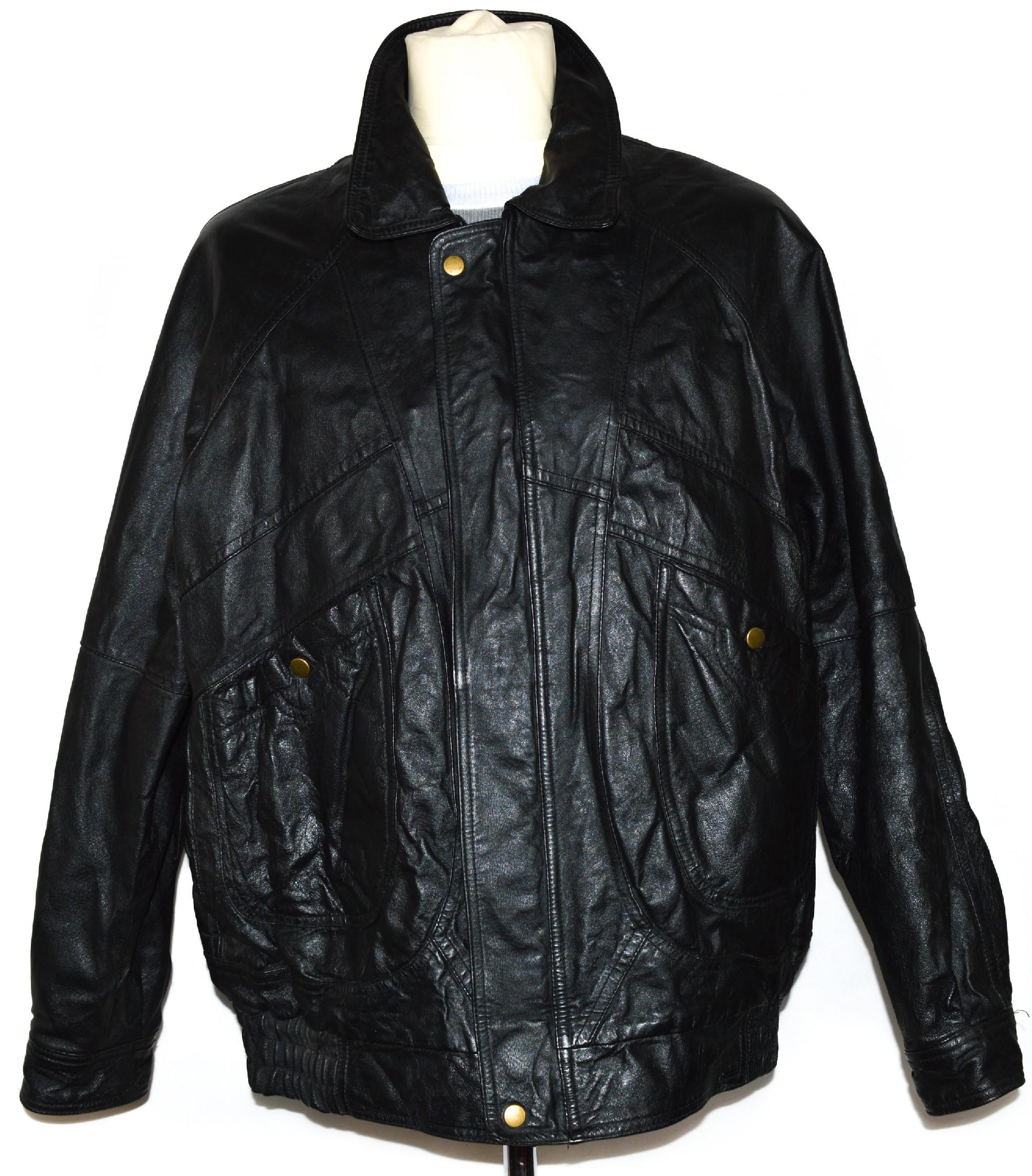 KOŽENÁ pánská černá bunda na zip Brooker L